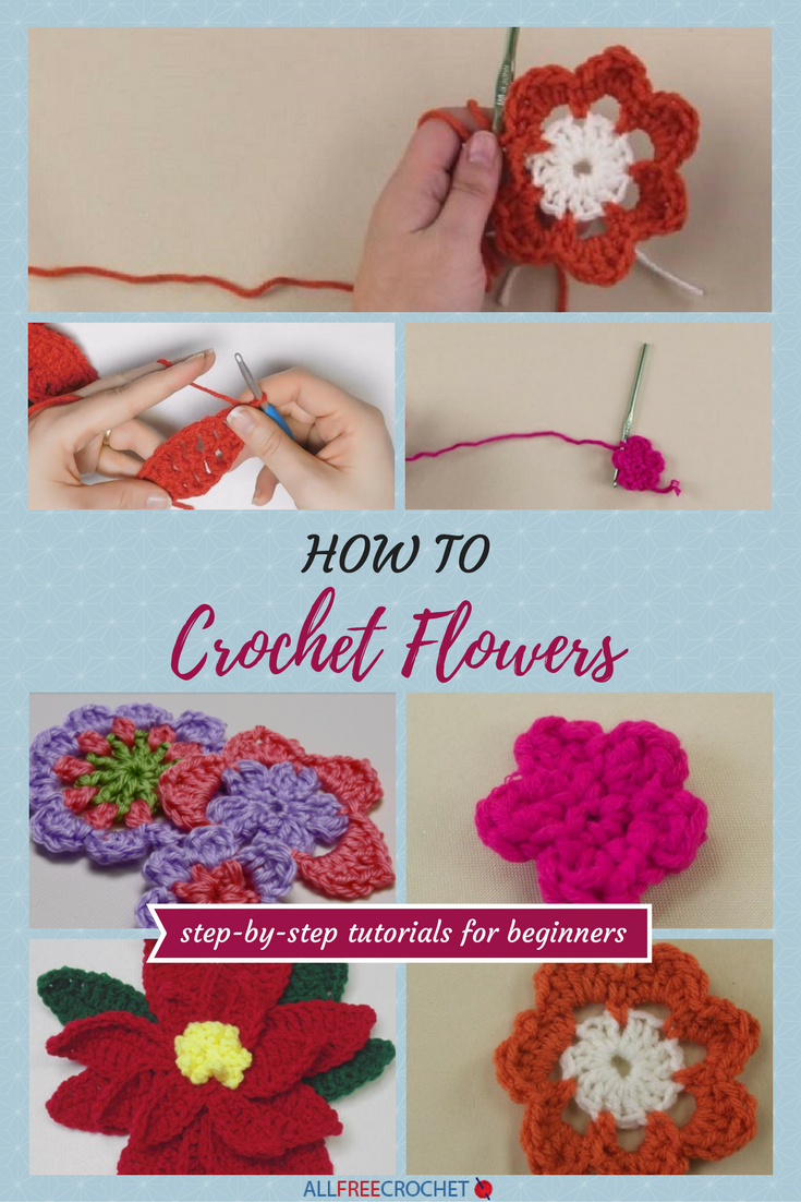 3 easy crochet flower tutorials for beginners crochet flower 3 easy crochet flower tutorials for beginners bankloansurffo Images