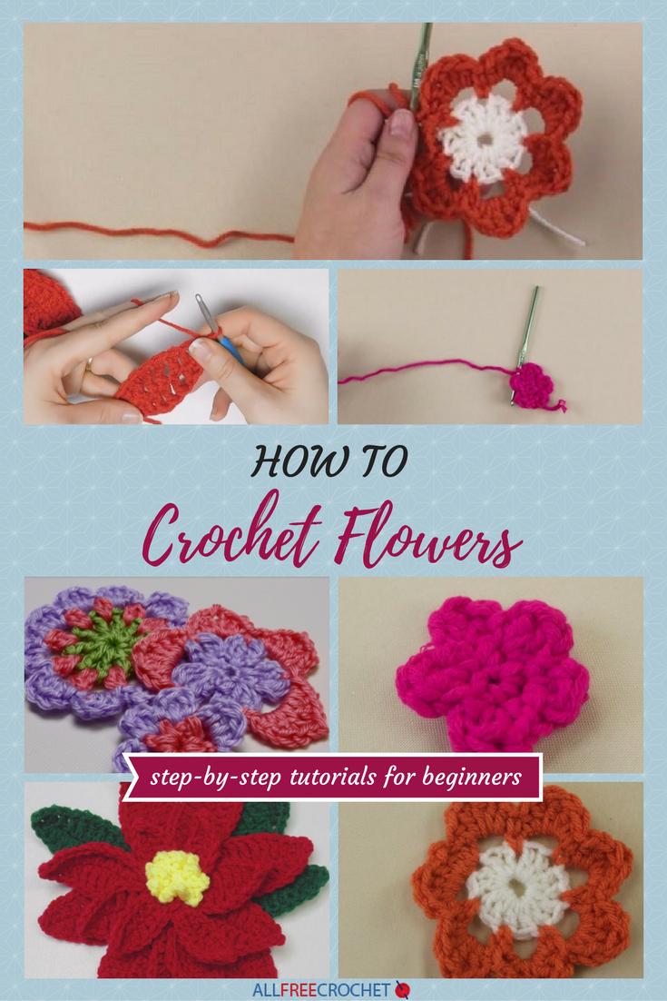 3 easy crochet flower tutorials for beginners crochet flower 3 easy crochet flower tutorials for beginners bankloansurffo Gallery