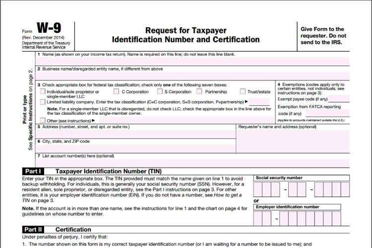 8 best Electronic IRS Form W-9 2014 images on Pinterest Pdf, Irs