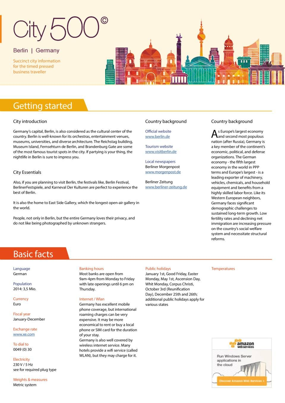 City Factsheet Berlin  SimplebookletCom  Project Inspiration