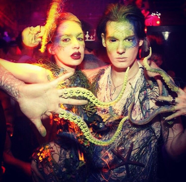 """Cody_baugh and JessicaLove at Susanne Bartsch and Brandon Voss weekly event at Marquee, """"Catwalk""""."""