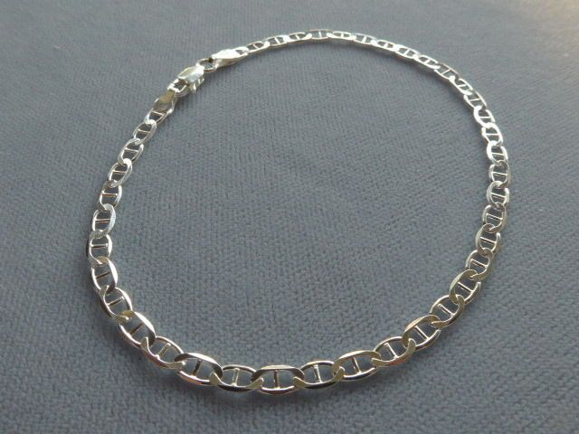 silver ankle faceted chain asp snake with p beads sterling inch anklet bracelets