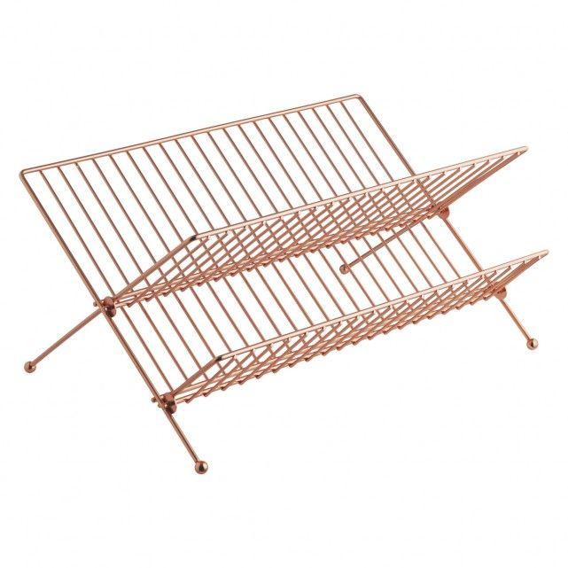 Alka Copper Finish Metal Dish Drainer H O M E Gentle