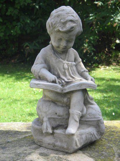 Boy Reading Garden Ornament Garden Ornaments Reading Garden Beautiful Gardens