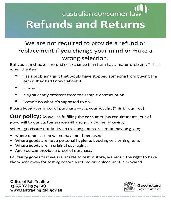 Return Policy Template Policy Template Templates Policies