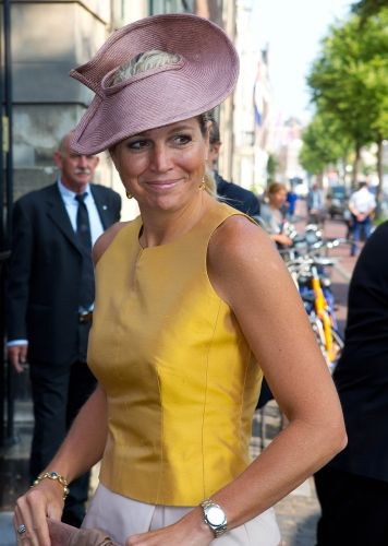 Queen Máxima, September 4, 2013 in Fabienne Delvigne I The Royal Hats Blog