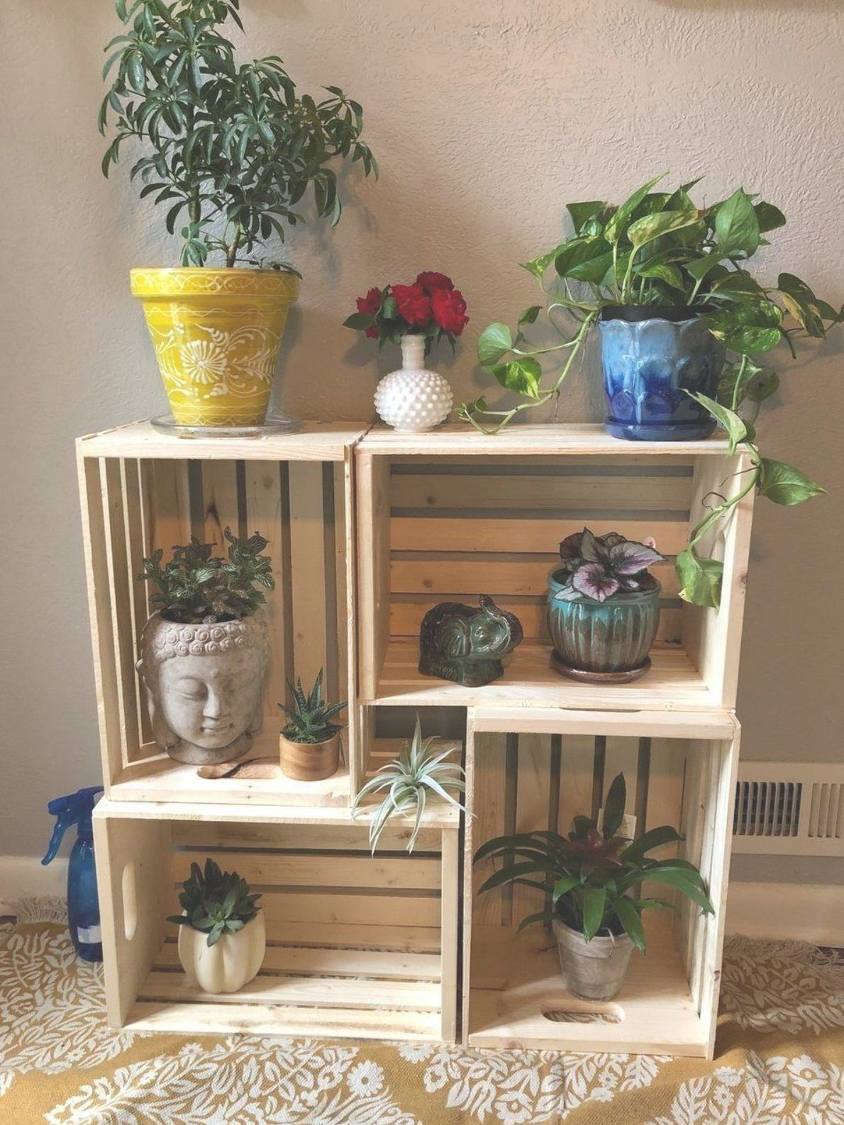DIY PLANT STAND IDEAS FOR AN OUTDOOR AND INDOOR DECORATION - Unique Diy Plant Stand Ideas To Fill Your Home With Greenery #DIY #PlantStand #Ideas #Plant #stand #Green #Garden #diyplantstand