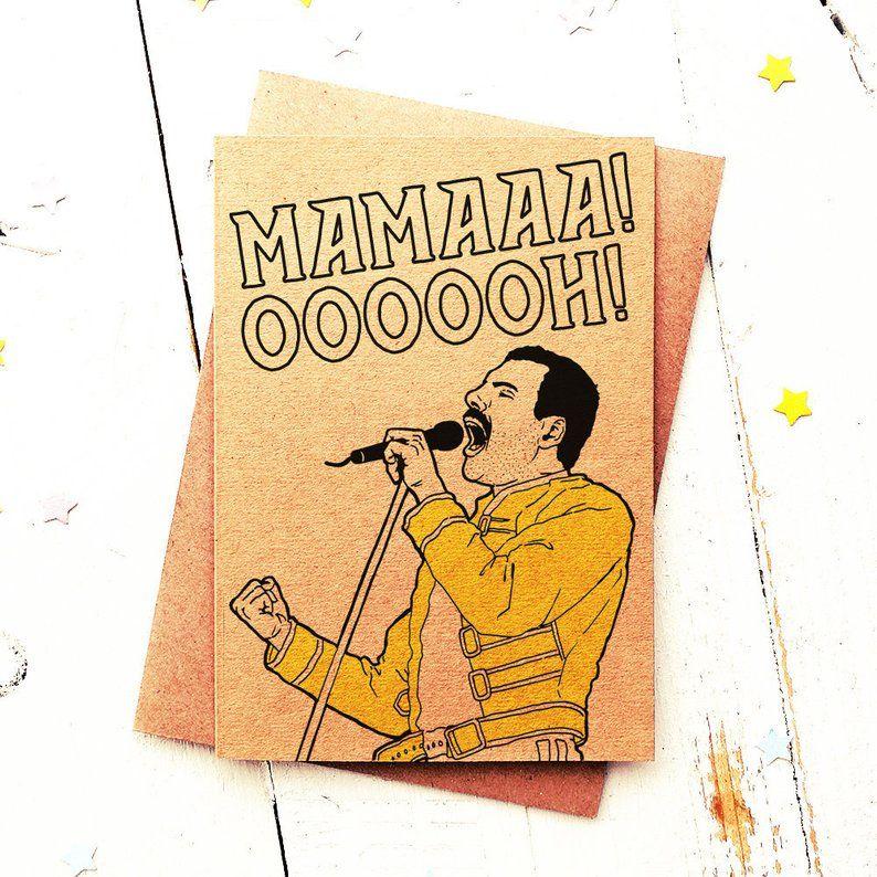 Freddie Mercury Card Mothers Day Card Funny Mum Card Mum