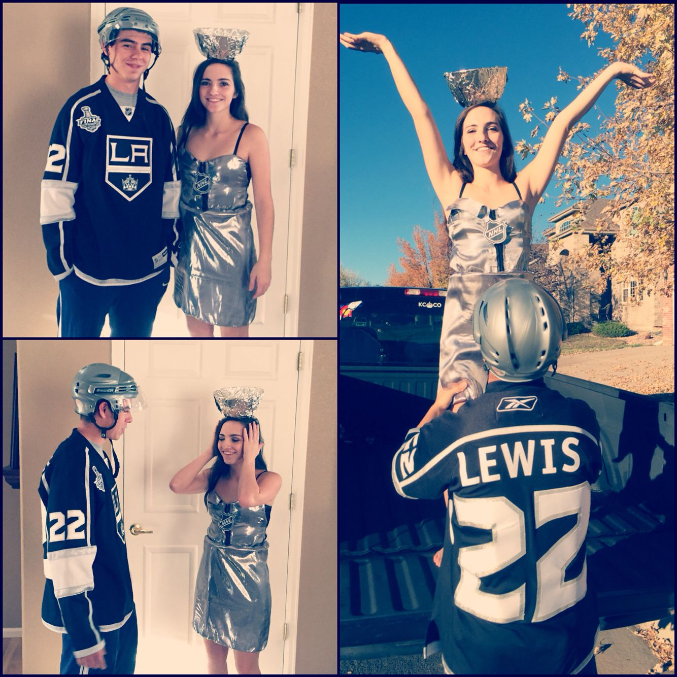 Couples Costume Hockey Player And The Stanley Cup Couples Costumes Couple Halloween Halloween Coatumes