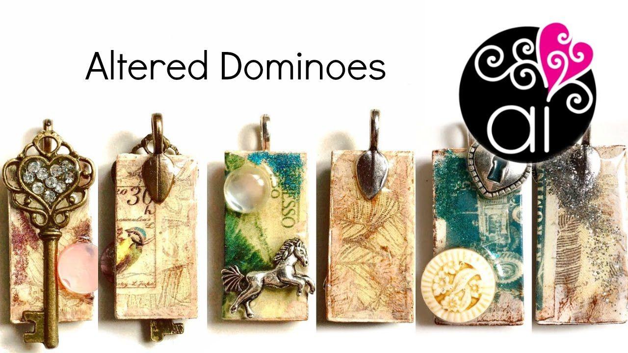 Altered domino diy tutorial decoupage resin kit
