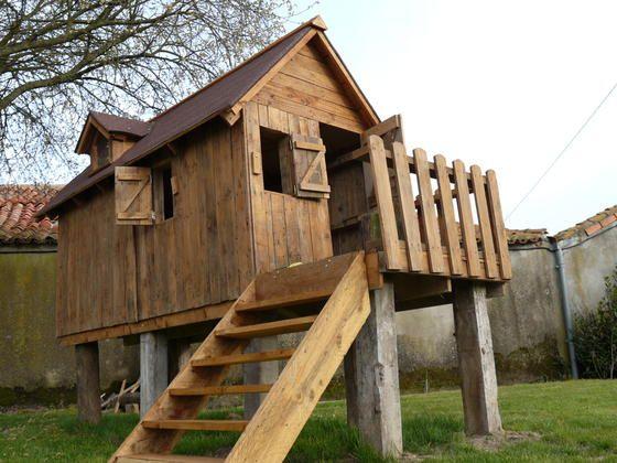 Realisation du0027une cabane en bois de palette pour mes enfants - Montage D Un Garage En Bois
