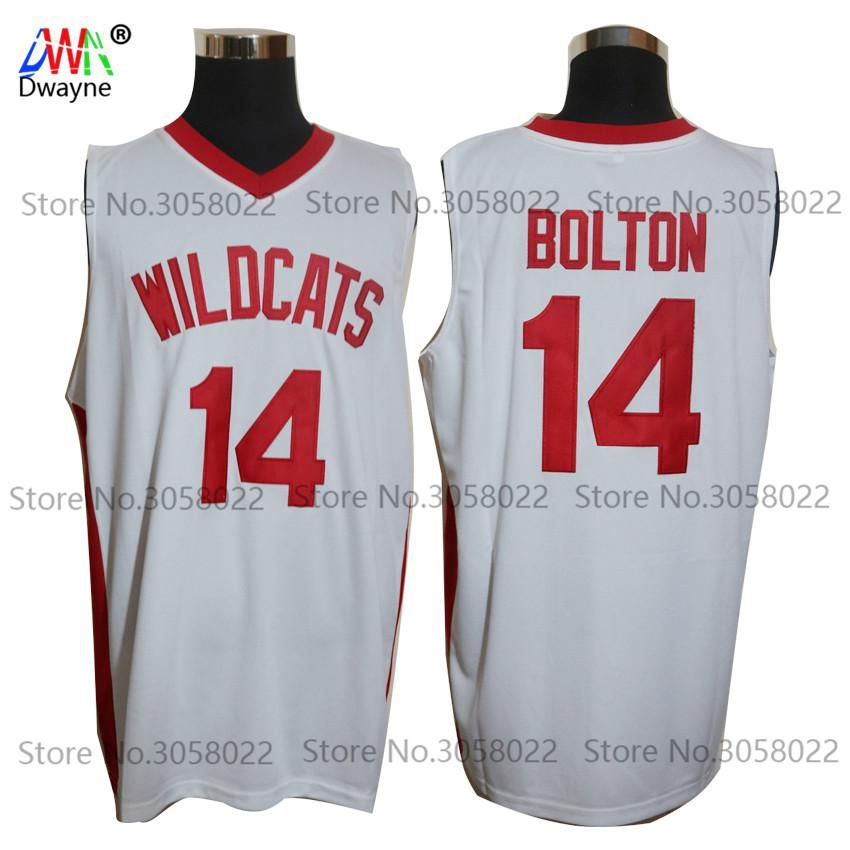 Zac Efron Troy Bolton 14 East High School Wildcats High School Mens  Throwback Basketball Jersey Stitched White Vintage Shirts. Yesterday s  price  US  25.91 ... df21e7f0e