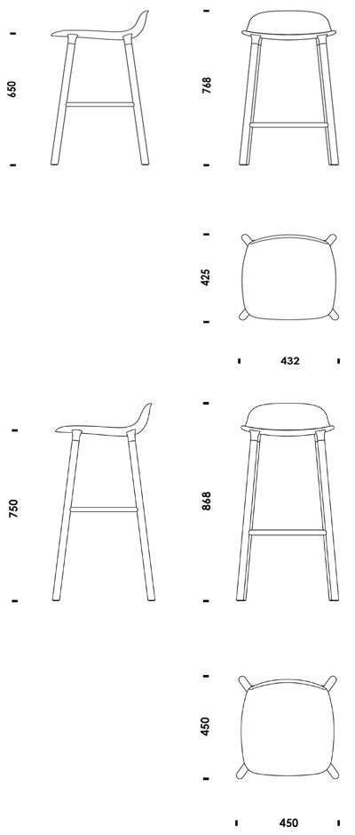 Form Barstool Normann Copenhagen Useful Autocad