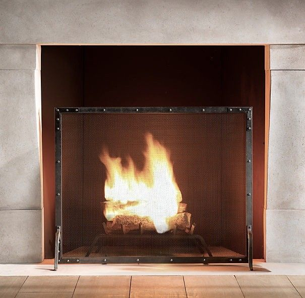 5 Favorites Simple Fire Screens Remodelista Fireplace Screens Freestanding Fireplace Hearth