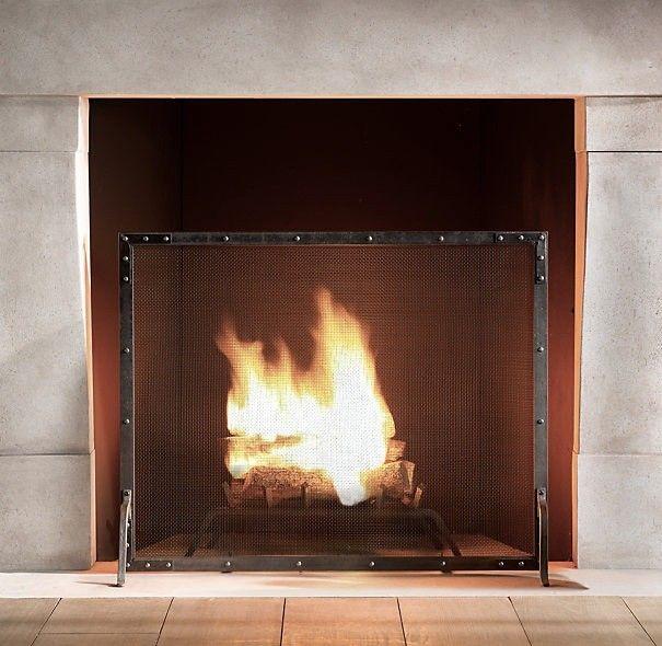 wood fireplace screens. 5 Favorites  Simple Fire Screens Restoration hardware