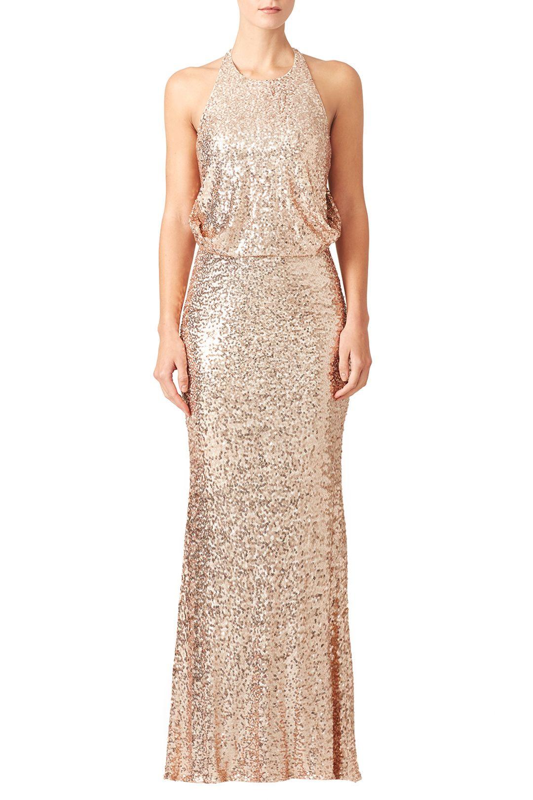 Rose Gold Sequin Bridesmaid Dress | Brautjungfer
