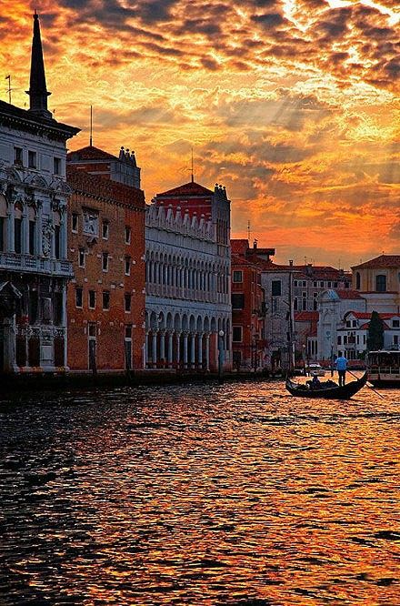Venice-Floating in the water of the city