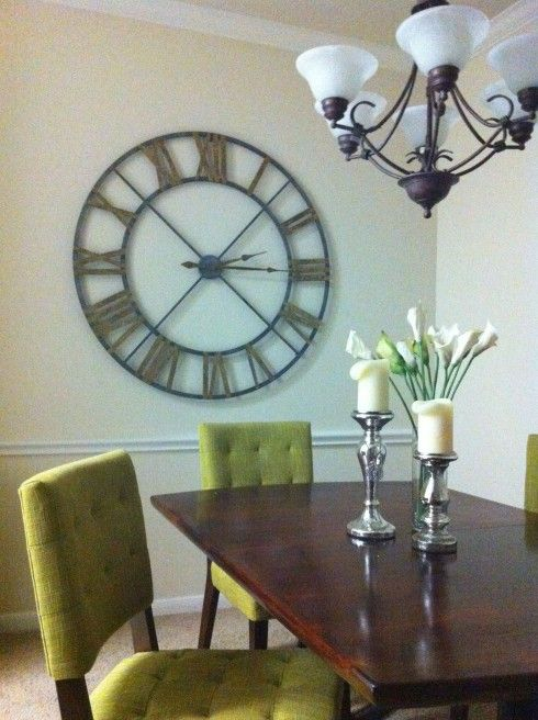 Like this clock... From Homegoods website.