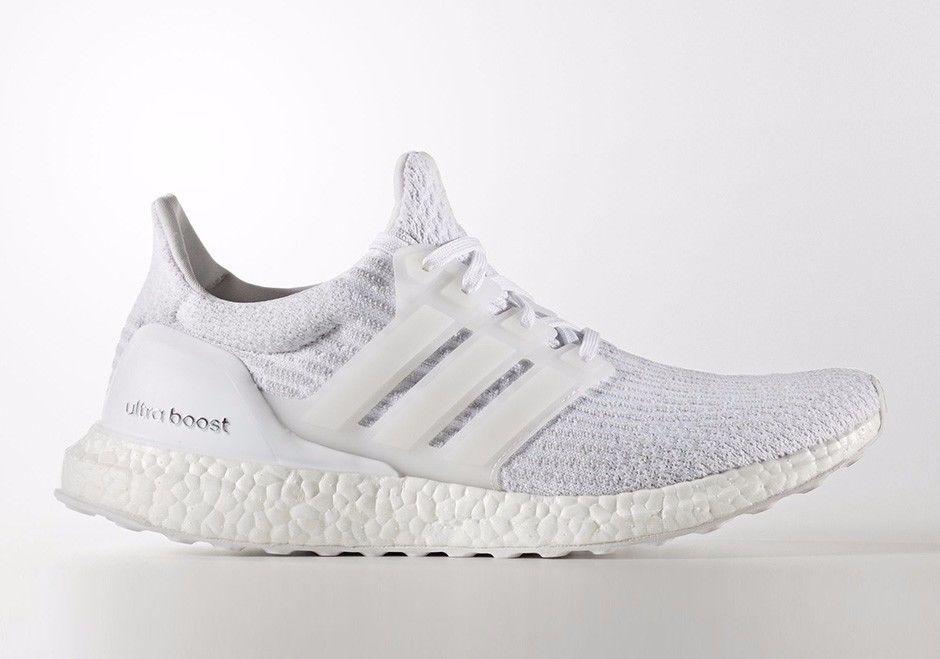 9a63d1c2b722c ... wholesale new mens adidas ultra boost 3.0 ltd running shoes triple  white size 12 ba8841 cc601