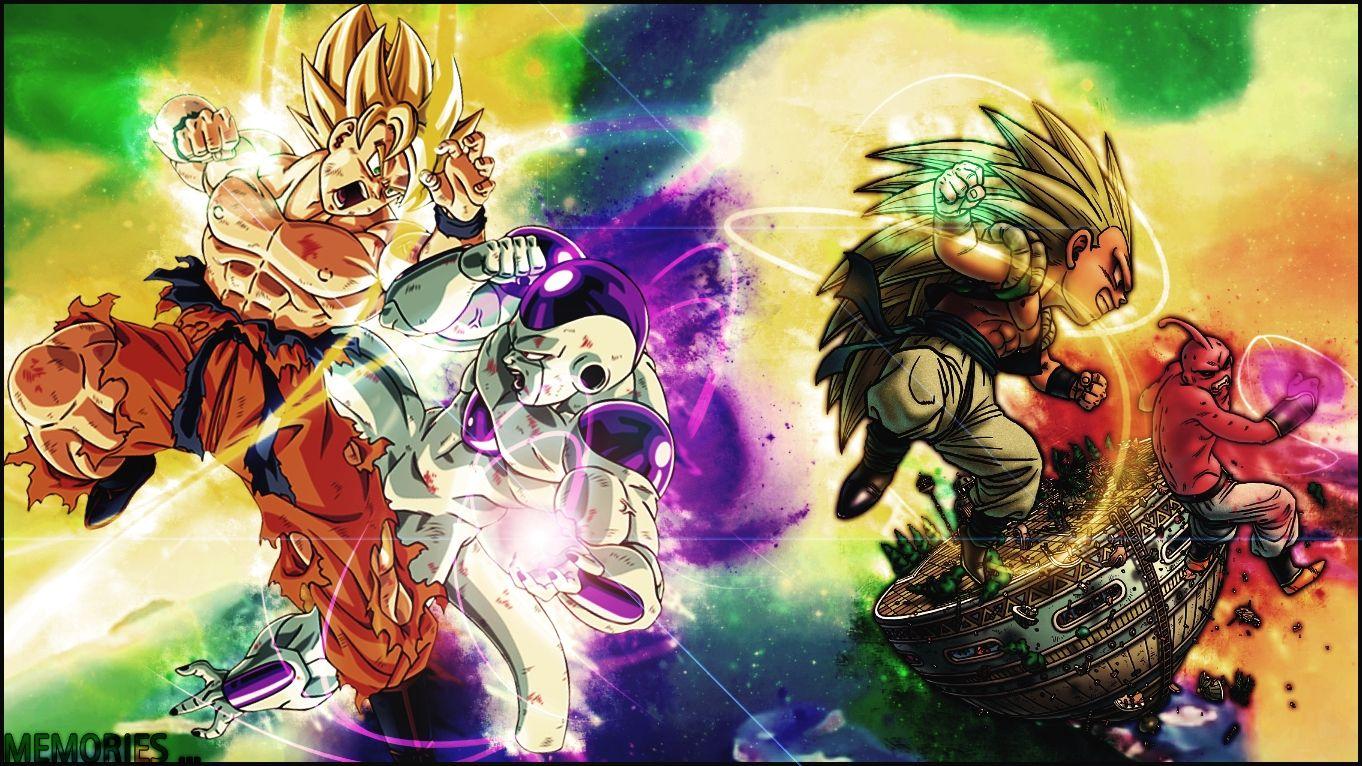 Goku Vs Frieza Gotenks And Buu
