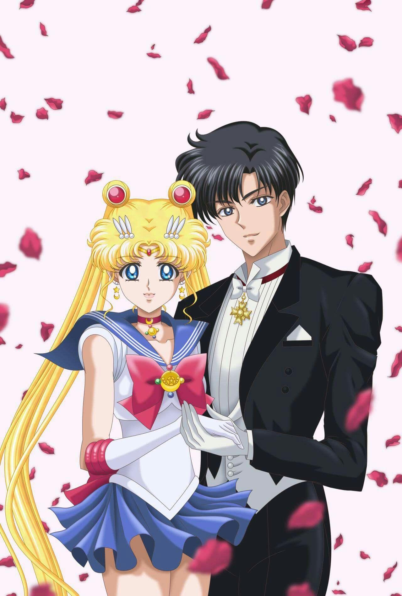 Falling Rose Petals Wallpaper Que Pareja Mas Romantica Sailor Sailor Moon Sailor