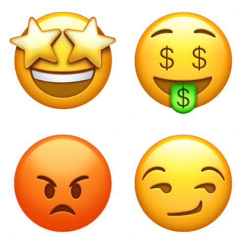 Emoji Domain Pouting Face Smirking Face Money Mouth Face Star Struck Emoji Emoji Characters Apple Emojis