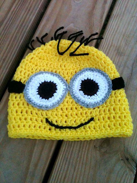 Minion from Dispicable ME inspired Beanie PATTERN pattern by Tiffany ...