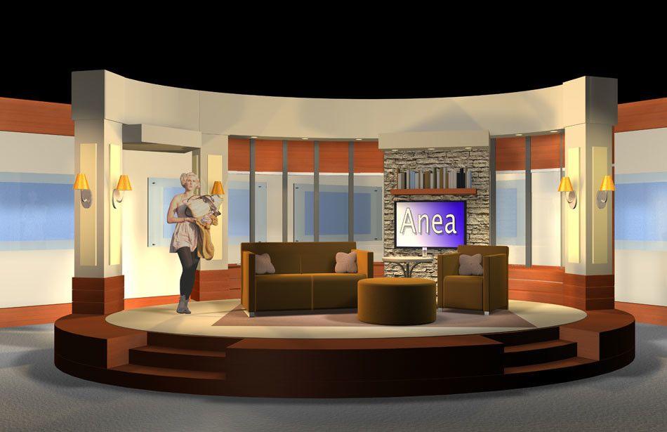 Anea Talk Show Set Design, by Julie Ray