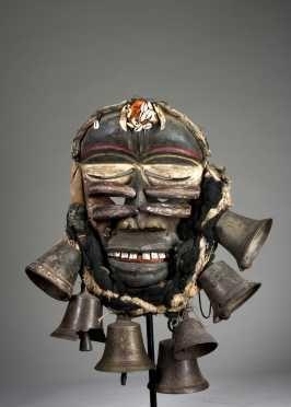 A Guere-Wobe war mask, Ivory Coast