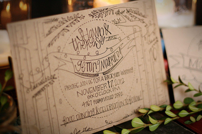 All Lit Up Wedding Invitation Suite by JuneBrideLettering on Etsy