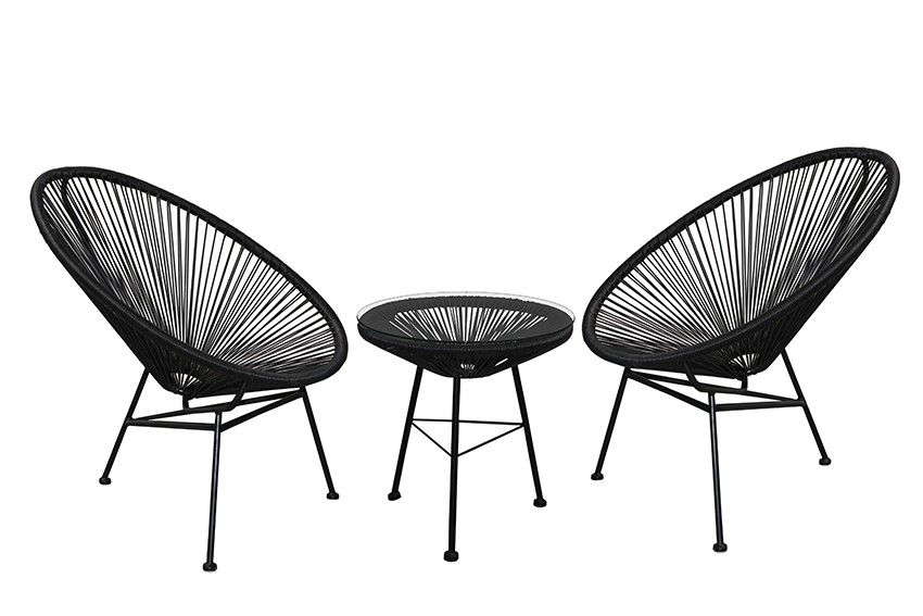 Replica Acapulco Lounge Chair Setting   Black   Here Is The Best Selling  Mexican Inspired 1950u0027s Classic, The Replica Acapulco Lounge Chair And Side  Table.