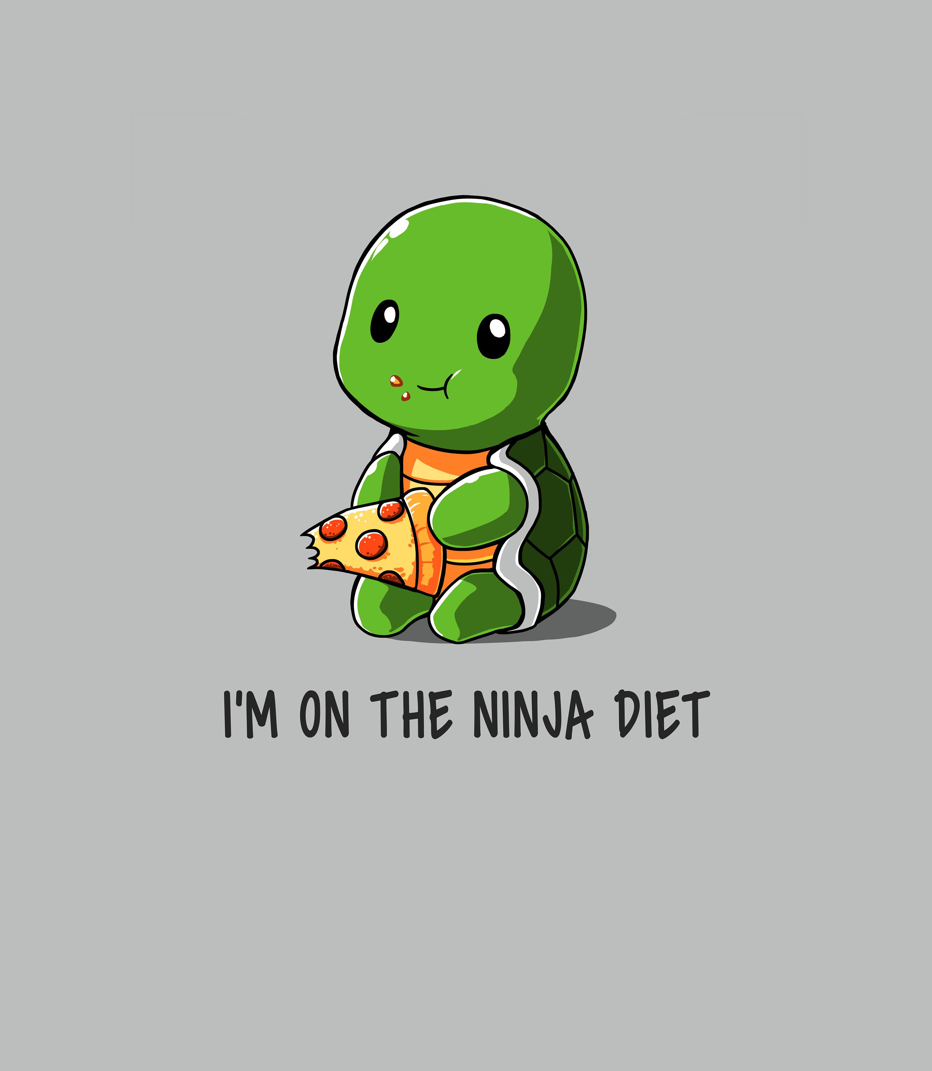 Ninja Diet Funny Cute Nerdy Shirts Cute Animal Drawings Cute Drawings Cute Turtles