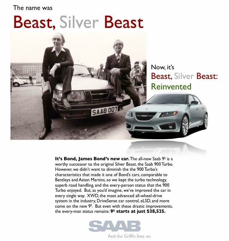 The Name Was Beast Silver James Bond S 007 Saab 900 Now Has Been Reinvented 9 5ng Aero Xwd Ttid4 Luxury Sports Sedan Saabsunited