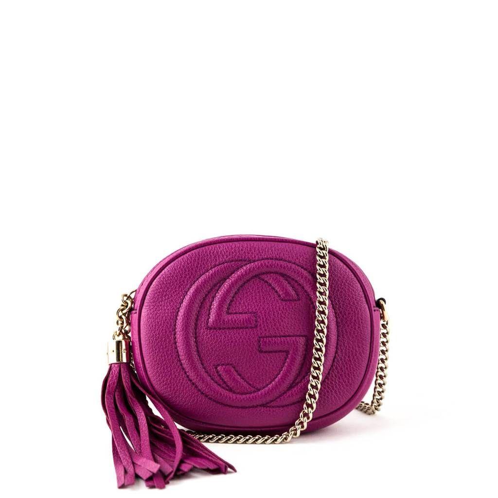 Gucci Pink Mini Soho Chain Bag Love That Bag Preowned Authentic Designer Handbags Designer Purses And Handbags Brighton Handbags Luxury Handbags