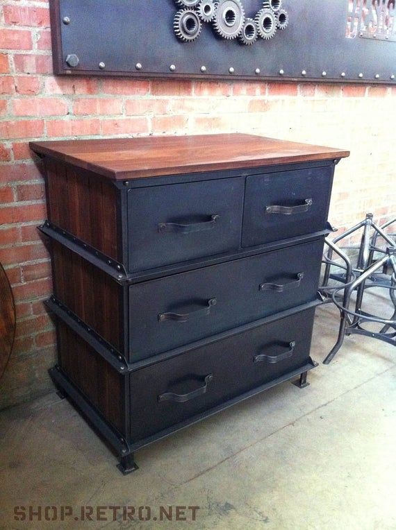 Vintage Industrial Ellis Dresser / French Industrial #frenchindustrial