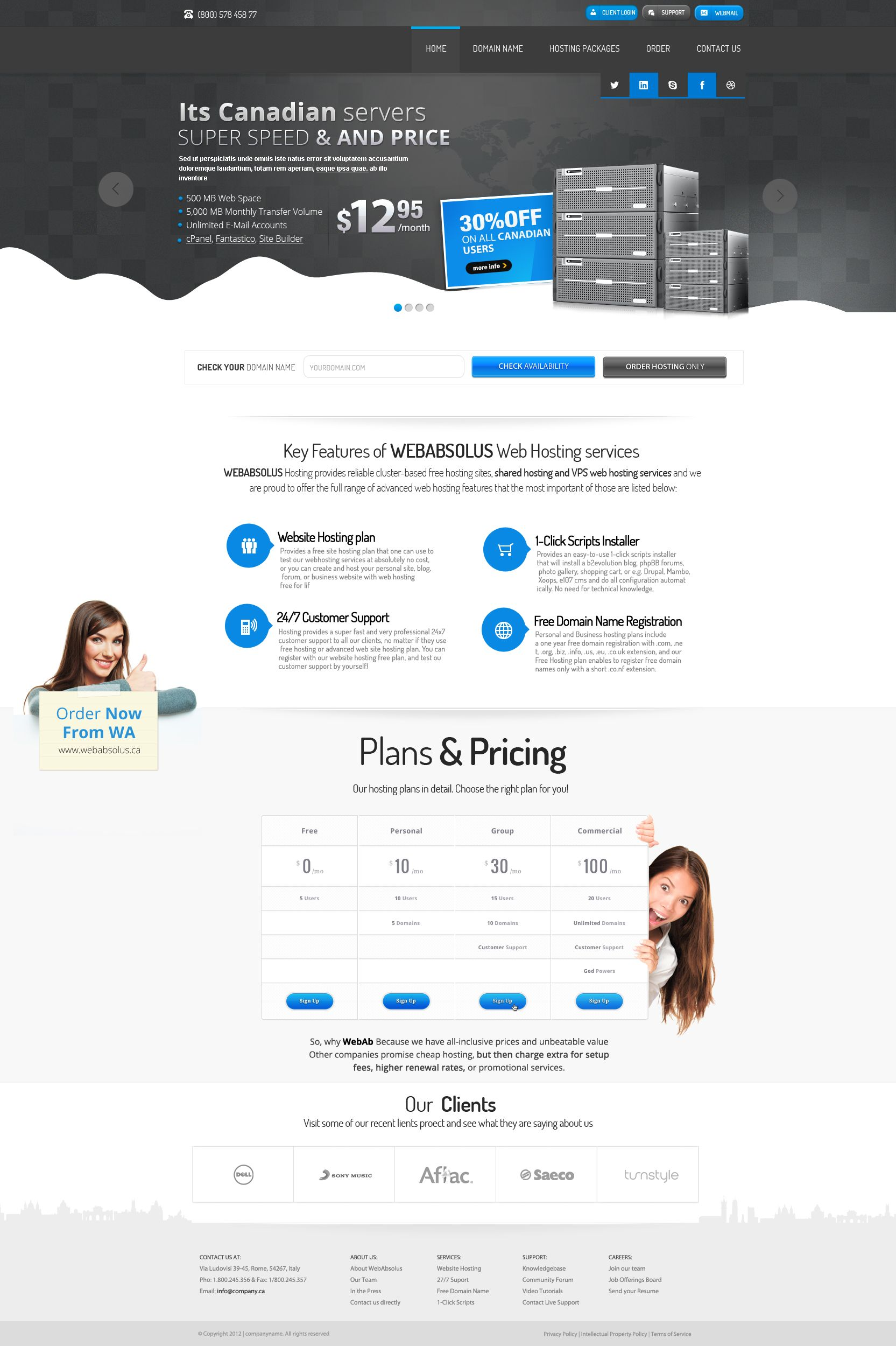Canadian Hosting Company Web Design By Vasiligfx Deviantart Com On Deviantart Web Design Hosting Company Web Hosting Services