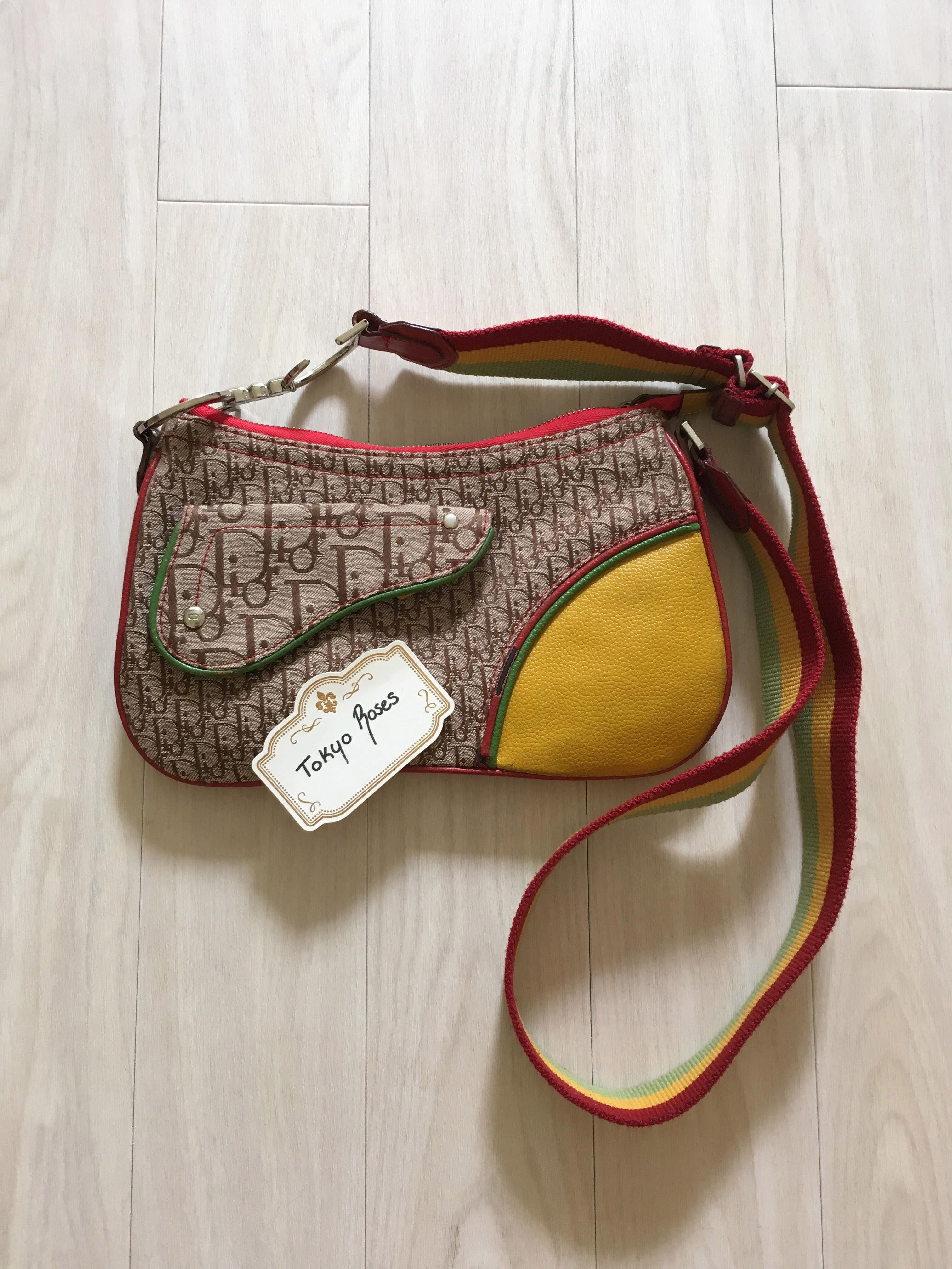 Christian Dior Rasta Trotter Monogram Cross Body Bag Trotter, Vintage  Designs, Cross Body, 5fe90b74b2