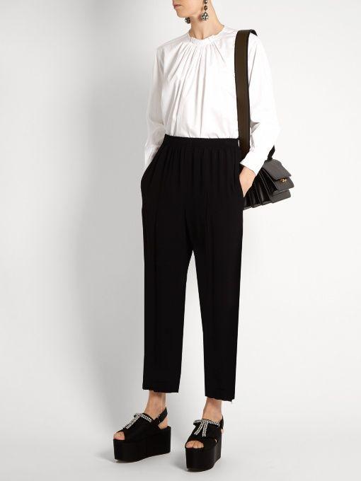Stella McCartney Gathered cotton blouse