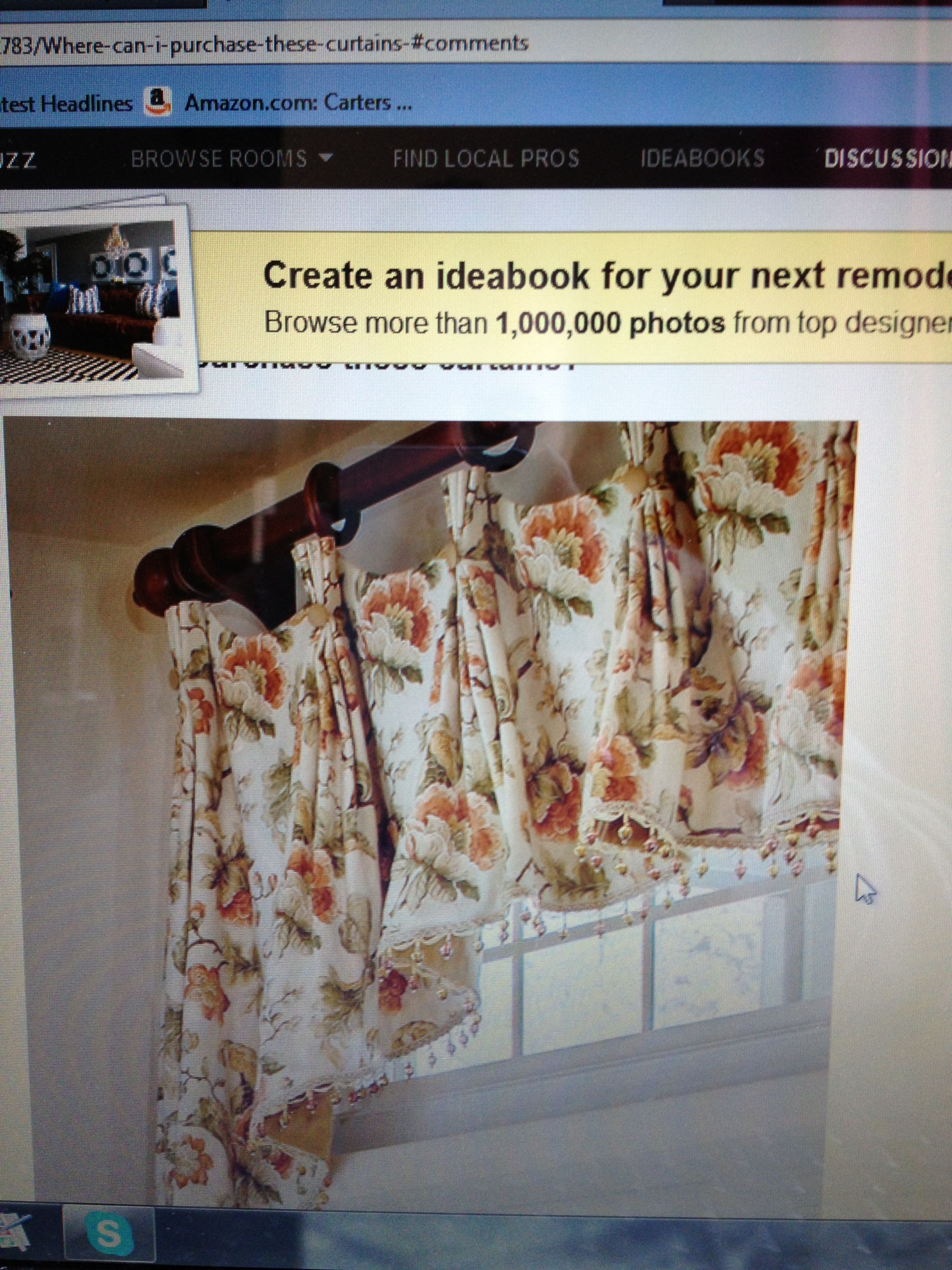 Inspiration for dining room valance.