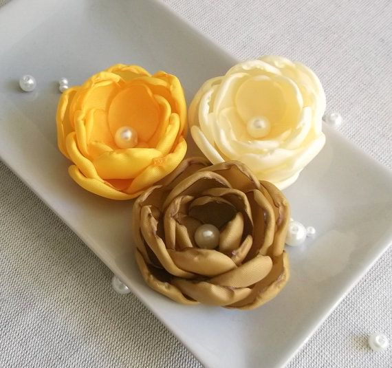 Pale yellow flower mustard brown flower yellow flower weddings pale yellow flower mustard brown flower yellow by zbaccessory mightylinksfo