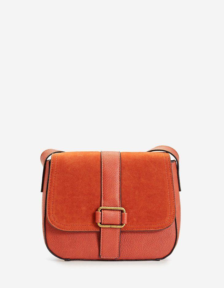 Photo of Suede shoulder bag – null | Stradivarius France Winter sales