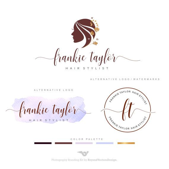 Hair Salon Logo Makeup Logo Hair Stylist Logo By Bvlogodesign