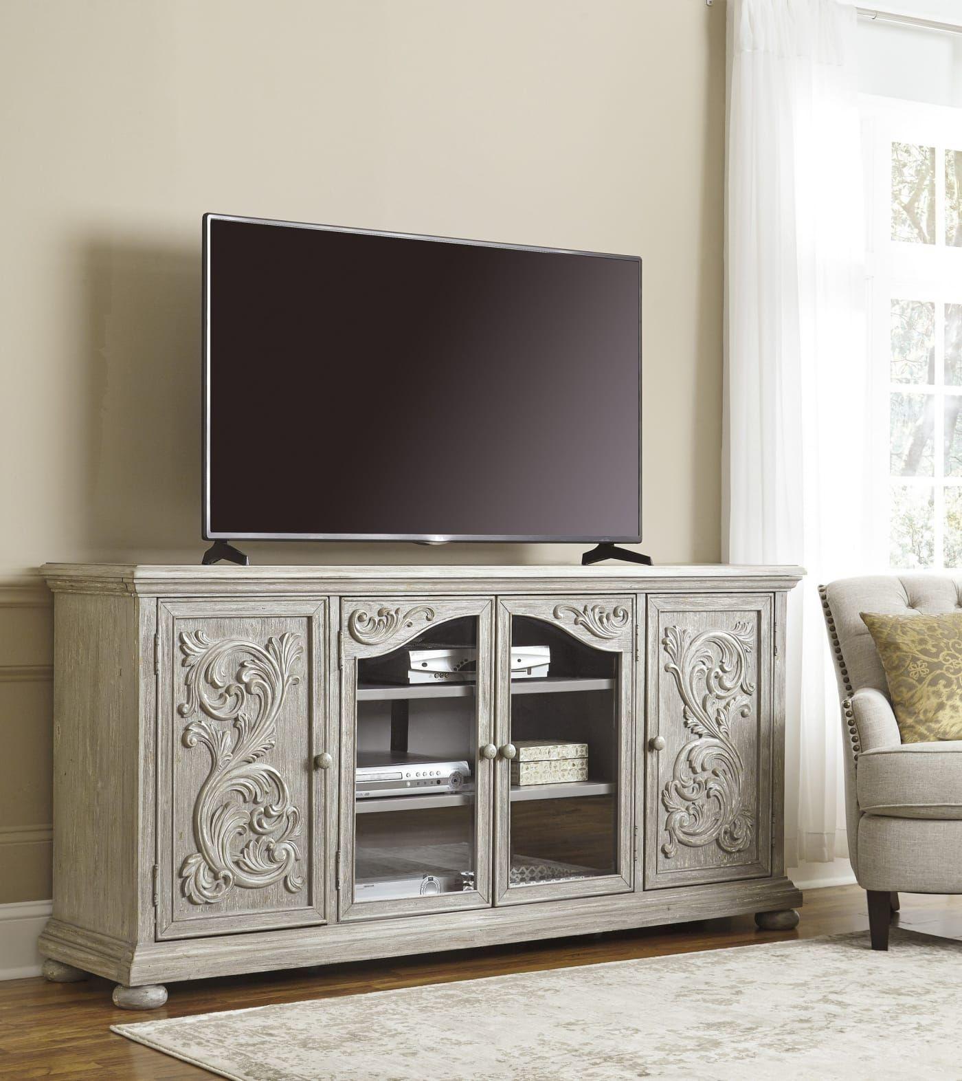 "Signature Design by Ashley Marleny Gray 75"" Extra Large TV"