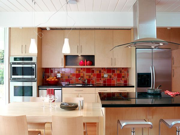 Kitchen Backsplash Red bright red backsplash | kitchen | pinterest | kitchens, kitchen