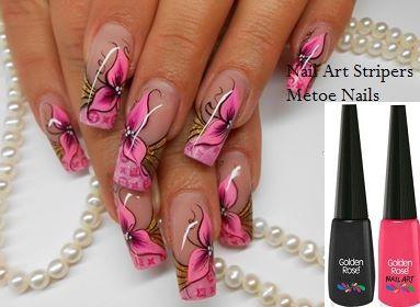 De Nail Art Stripers Van Metoe Nails Hebben Hele Fijne Penseeltjes
