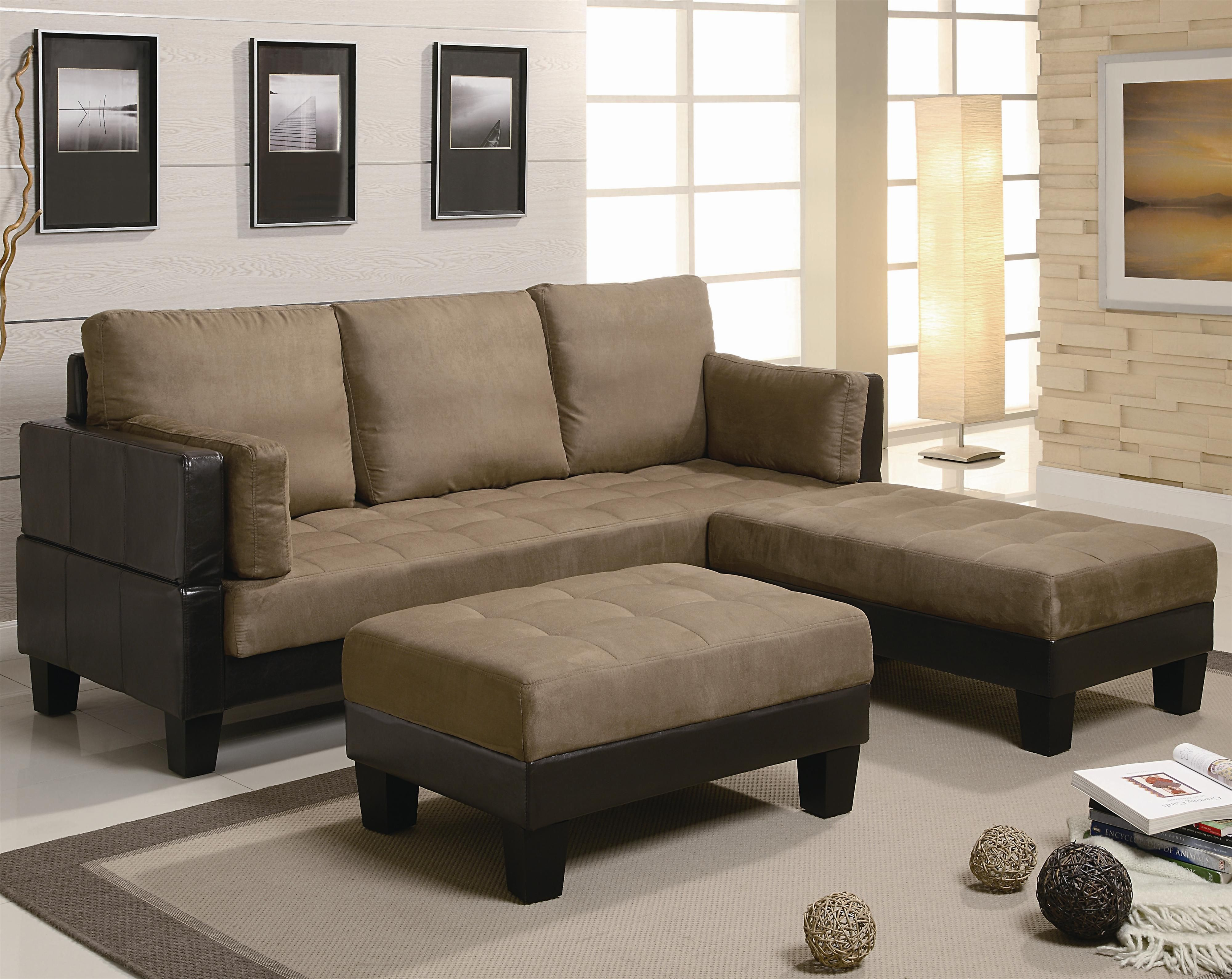 Leather Sectional Sofa Ellesmere Contemporary Sofa Bed Group with Ottomans by Coaster