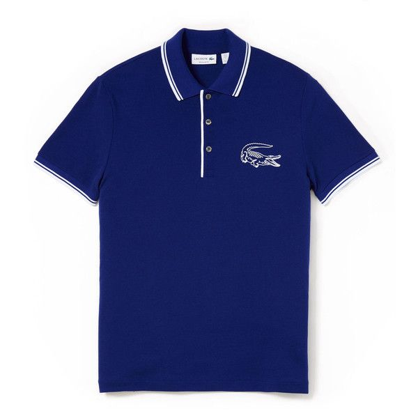 Lacoste Boy's Ribbed Mouliné Sweater (230 BRL) ❤ liked on Polyvore featuring polos polos