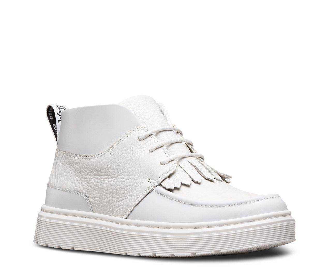 DR MARTENS JEMIMA AUNT SALLY. White Leather ShoesWhite BootsWomen's ...