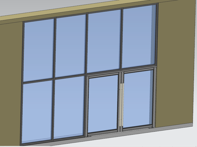 Glass Wall With Entrance Door For Storefront Or Shopfront Aluminium Windows And Doors Glass Wall Entrance Doors