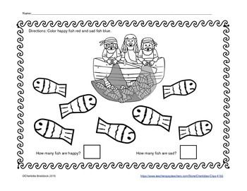 Free Fishers of Men Color and Count Printable